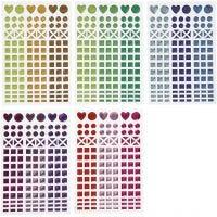 Autocollants mosaïques, d: 8-14 mm, 11x16,5 cm, couleurs assorties, 10 flles/ 1 Pq.