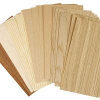 Placage bambou, 12x22 cm, ép. 0,75 mm, 30 flles ass./ 1 Pq.