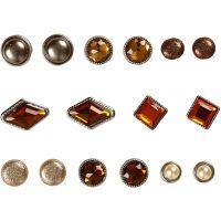 Rivets décoratifs, dim. 8-18 mm, brun, 16 pièce/ 1 Pq.