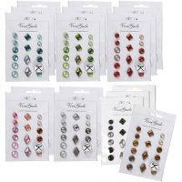 Rivets décoratifs, dim. 8-18 mm, Le contenu peut varier , couleurs assorties, 20x16 pièce/ 1 Pq.