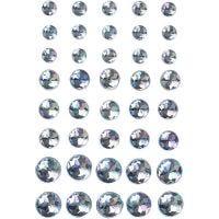 Pierres de strass, dim. 6+8+10 mm, bleu, 40 pièce/ 1 Pq.