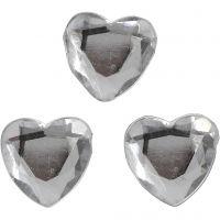 Pierres de strass, dim. 10 mm, argent, 150 pièce/ 1 Pq.