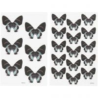 Stickers, 9x14 cm, dim. 4x3,5 cm, 4 flles ass./ 1 Pq.