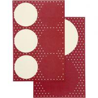 Stickers, d: 4+6,5 cm, 9x14 cm, 4 flles ass./ 1 Pq.