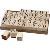 Set de tampons en bois, H: 30 mm, dim. 20x20 mm, 45 pièce/ 1 Pq.