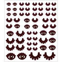 Autocollants, yeux, 15x16,5 cm, 1 flles