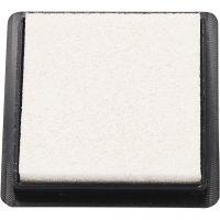 Tampon encreur, dim. 40x40 mm, blanc, 1 pièce
