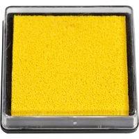 Tampon encreur, dim. 40x40 mm, jaune, 1 pièce