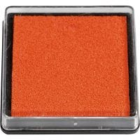 Tampon encreur, dim. 40x40 mm, orange, 1 pièce