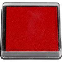 Tampon encreur, dim. 40x40 mm, rouge, 1 pièce