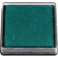 Tampon encreur, dim. 40x40 mm, vert, 1 pièce