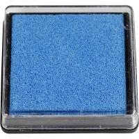 Tampon encreur, dim. 40x40 mm, bleu clair, 1 pièce