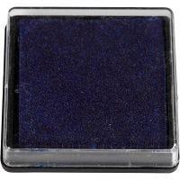 Tampon encreur, dim. 40x40 mm, bleu foncé, 1 pièce