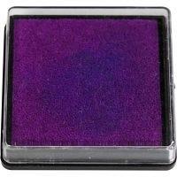 Tampon encreur, dim. 40x40 mm, violet, 1 pièce