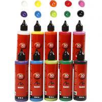 3D Liner - Assortiment, couleurs assorties, 10x100 ml/ 1 Pq.