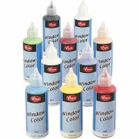 Window Color, couleurs assorties, 10x80 ml/ 1 Pq.