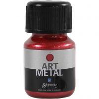 Peinture Art Metal, rouge lave, 30 ml/ 1 flacon