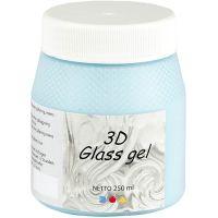 3D Glass Gel, Azure, 250 ml/ 1 boîte