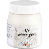 3D Glass Gel, ivoire, 250 ml/ 1 boîte