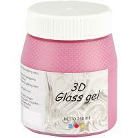 3D Glass Gel, rose, 250 ml/ 1 boîte