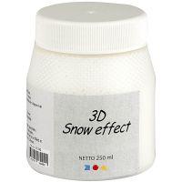 3D Pâte Neige, blanc, 250 ml/ 1 boîte