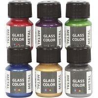 Glass Metal, couleurs assorties, 6x30 ml/ 1 Pq.