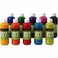 Peinture A-Color Glass, couleurs assorties, 10x250 ml/ 1 boîte