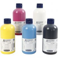 Schmincke AKADEMIE® Acryl color , 5x500 ml/ 1 Pq.