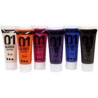 Peinture acrylique A-Color, brillante, couleur extra, 6x20 ml/ 1 Pq.