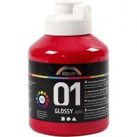 Peinture acrylique A-Color, brillante, rouge primaire, 500 ml/ 1 flacon