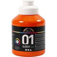 Peinture acrylique A-Color, brillante, orange, 500 ml/ 1 flacon