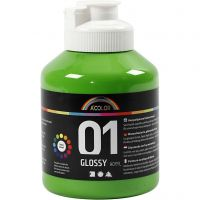 Peinture acrylique A-Color, brillante, vert clair, 500 ml/ 1 flacon