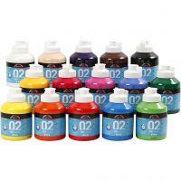 A-Color Mate, mate, couleurs assorties, 15x500 ml/ 1 boîte