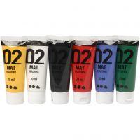 A-Color Mate, mate, couleurs classiques, 6x20 ml/ 1 Pq.