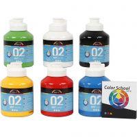 A-Color Mate, mate, couleur primaire, 6x500 ml/ 1 Pq.