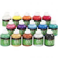 A-Color Métallique, Métallisé, couleurs assorties, 15x500 ml/ 1 boîte