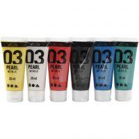 Peinture métallique A-Color, Métallisé, couleurs classiques, 6x20 ml/ 1 Pq.