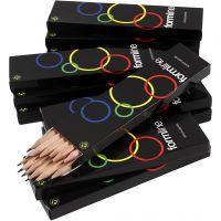 Crayon scolaire, dureté HB, Non vernis, 12x12 pièce/ 1 Pq.