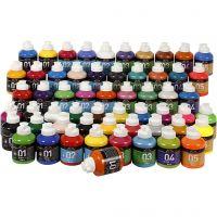 Peinture acrylique A-color, couleurs assorties, 57x500 ml/ 1 Pq.