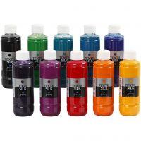 Peinture Textil Silk, 10x250 ml/ 1 Pq.