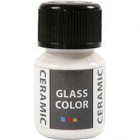 Peinture céramique Glass Color, blanc, 35 ml/ 1 flacon