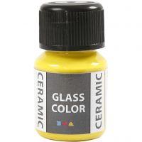 Peinture céramique Glass Color, jaune citron, 35 ml/ 1 flacon