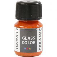 Peinture céramique Glass Color, orange, 35 ml/ 1 flacon