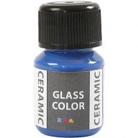 Peinture céramique Glass Color, bleu brillant, 35 ml/ 1 flacon