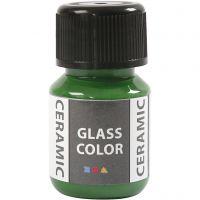 Peinture céramique Glass Color, vert brillant, 35 ml/ 1 flacon