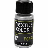 Peinture Textile Color , nacré, argent, 50 ml/ 1 flacon