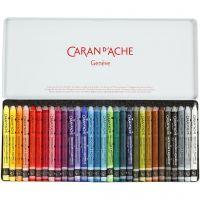 Caran d'Ache Néocolor 2, L: 10 cm, couleurs assorties, 30 pièce/ 1 Pq.