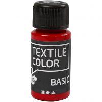 Peinture Textile Color, rouge, 50 ml/ 1 flacon