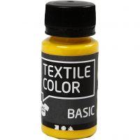 Peinture Textile Color, jaune primaire, 50 ml/ 1 flacon