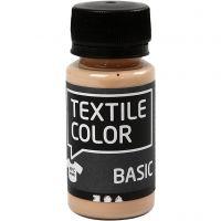 Peinture Textile Color, beige clair, 50 ml/ 1 flacon